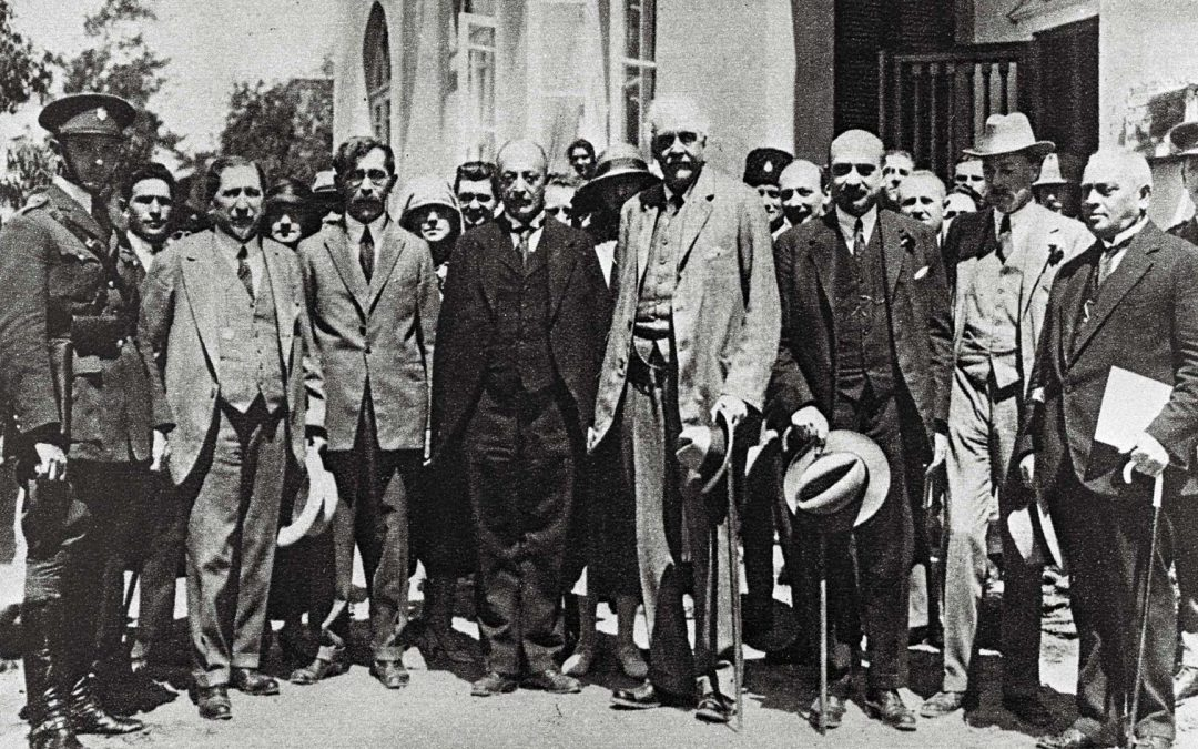 Arthur Balfour in Group Photo Tel Aviv, 1925